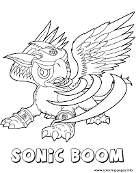 skylanders giants air sonic boom coloring pages printable