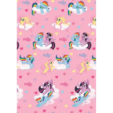 My Little Pony Gift Wrapping Paper - bed sheet my little pony 140x200 bed sheet gift ideas klissmarket