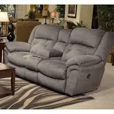 catnapper joyner power lay flat reclining fabric loveseat in slate