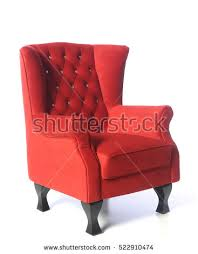 Red Armchair Vector Red Armchair Isolated On White Stock Vector 271498637