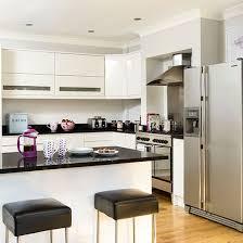 Small Kitchen Design Ideas Housetohome White Gloss Kitchen With Granite Worktops Kitchen Decorating