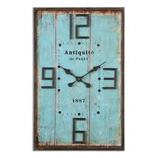 uttermost antiquite distressed wall clock urban farmhouse decor
