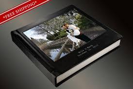 custom leather photo album photo album flush mount wedding album with cameo and 2 lines