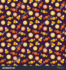 happy halloween background sweets seamless pattern stock vector