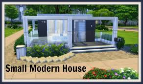 Building Small House Sims 4 Small Modern House Dinha