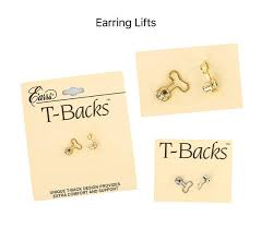 gold earring backs earrs silver gold t backs pierced ear lobe earring back