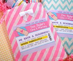 personalized party favor bags doc mcstuffins personalized pharmacy bag party favor