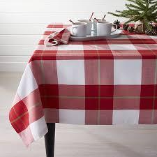 plaid tablecloth 60 x120 crate and barrel