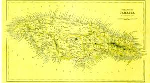 Jamaica Map Map Of Jamaica About 1845