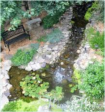 Waterfall In Backyard Diy Backyard Waterfall U0026 Pond All Things Heart And Home
