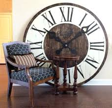 rustic wall clocks large u2013 digiscot