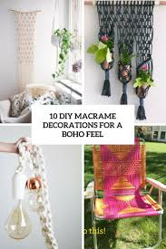 Macrame Home Decor by Diy Decorations Archives Shelterness