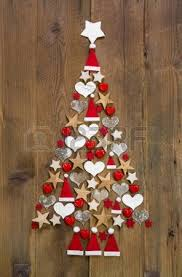 christmas tree decoration in shabby chic style an idea for