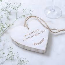 personalised wooden heart wedding keepsake by edgeinspired