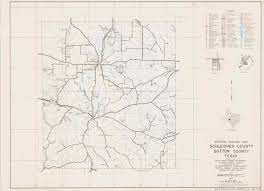Texas State Road Map by General Highway Map Schleicher County Sutton County Texas The