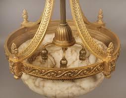 Alabaster Chandelier Chandeliers Design Wonderful Late Century Gilt Bronze And