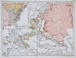 Map Of North America And Europe by Map Of 18th Century Europe And North America 1876