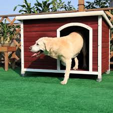 amazon com petsfit 45 6 x 30 9 x 32 1 inches wooden dog house