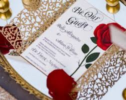 Invatations Rose Invitation Etsy