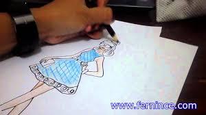 drawing dress pesta youtube