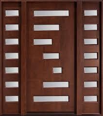front door glass designs architecture modern design of entry door with sidelights in brown