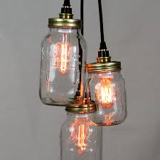 Levitating Light Bulb by Kilner Jar Cluster Pendant U2022 Unique U0027s Co