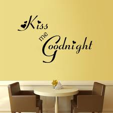 decoration sticker wall picture more detailed picture about 2016 2016 new kiss me good night heart quote bedroom decals removable waterproofing home bedroom wall sticker
