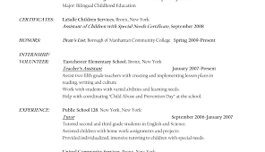Sample Resume For Bilingual Teacher by Preschool Teacher Resume Samples Free Jianbochen Memberpro Co