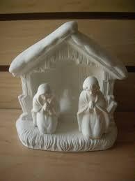 decoration ceramic nativity manger scene unpainted bisque ready to paint ceramic decor first