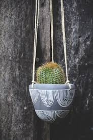 Hanging Succulent Planter by Hand Painted Ceramic Hanging Planter Glazed Stoneware Succulent