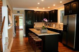 black kitchen cabinets with black appliances u2014 smith design how
