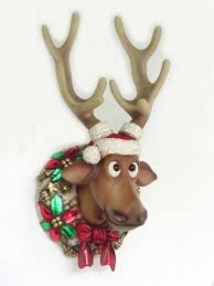 Christmas Deer Decorations by Pop Art Decoration Religion And Holidays Reindeer Christmas