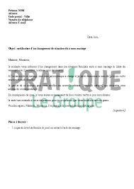 declaration de mariage lettre à la caf déclaration de mariage pratique fr