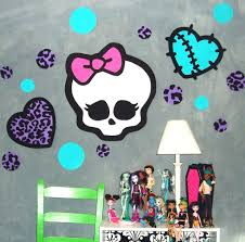 wall ideas monster high wall decor images monster high bedroom