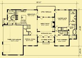 Traditional Floor Plan Colonial Manor House Plans For A Traditional 4 Bedroom Home