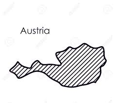 austria map vector austria map icon europe nation and government theme isolated