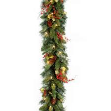 christmas garland with lights christmas garland indoors outdoors christmas decor