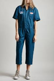 blue mechanic jumpsuit lyst r13 mechanic jumpsuit in blue