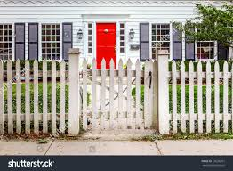 Picket Fences Red Door White Picket Fence Stock Photo 236296861 Shutterstock