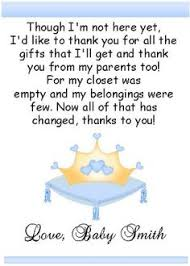 baby shower thank you from unborn baby poems gender select an