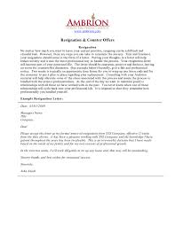 two week notice letter resignation u0026 counter offer edit fill