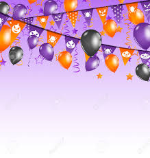 halloween purple and orange background illustration halloween background with hanging flags and balloons