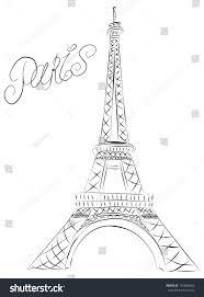 vector sketch paris eiffel tower stock vector 101860420 shutterstock