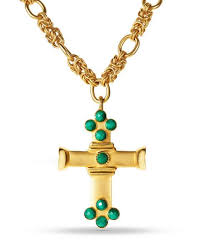 cross stone necklace images Gold cross stone necklace gabriella francesca designs jpg