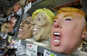 president halloween mask halloween gets political as masks of clinton trump become