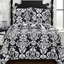 moroccan black and white medallion quilt coverlet set luxury