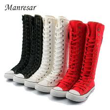 womens boots the knee aliexpress com buy manresar 2017 fashion 7colors s