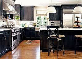 modern kitchen design ideas with black and white cabinetry gallery