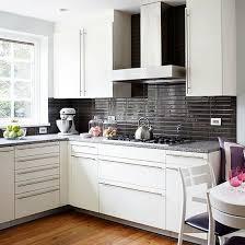 Marvelous Kitchen White Backsplash Cabinets Kitchen Tiles Ideas - Brown subway tile backsplash