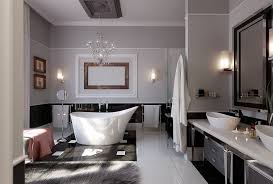 enchanting art deco bathroom ideas with brown wooden rectangle